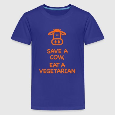 Save a Cow eat Vegetarian - Kids' Premium T-Shirt