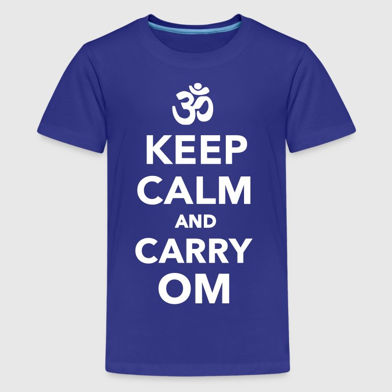 Keep calm and carry om - Kids' Premium T-Shirt