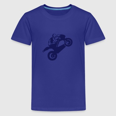 Wheelie moto_race wheeling  stunt - Kids' Premium T-Shirt