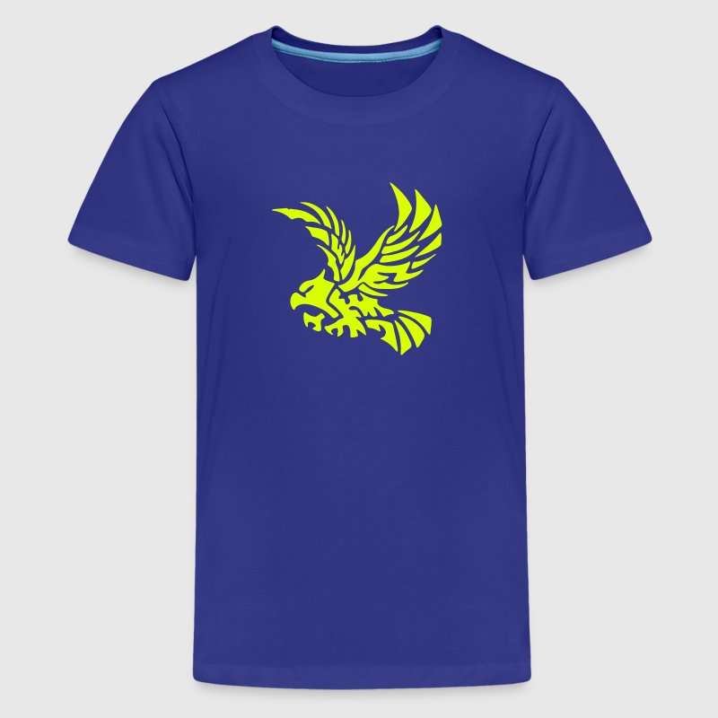 Tribal Eagle - Bird - Hawk - Flying - Freedom - Kids' Premium T-Shirt