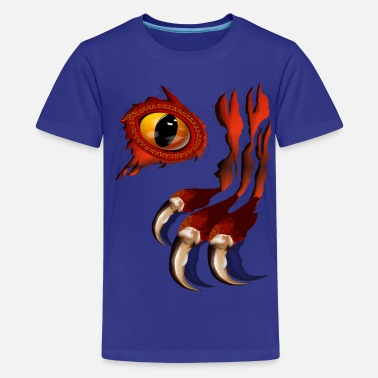 Red Torn Red Dragon Hiding - Kids' Premium T-Shirt