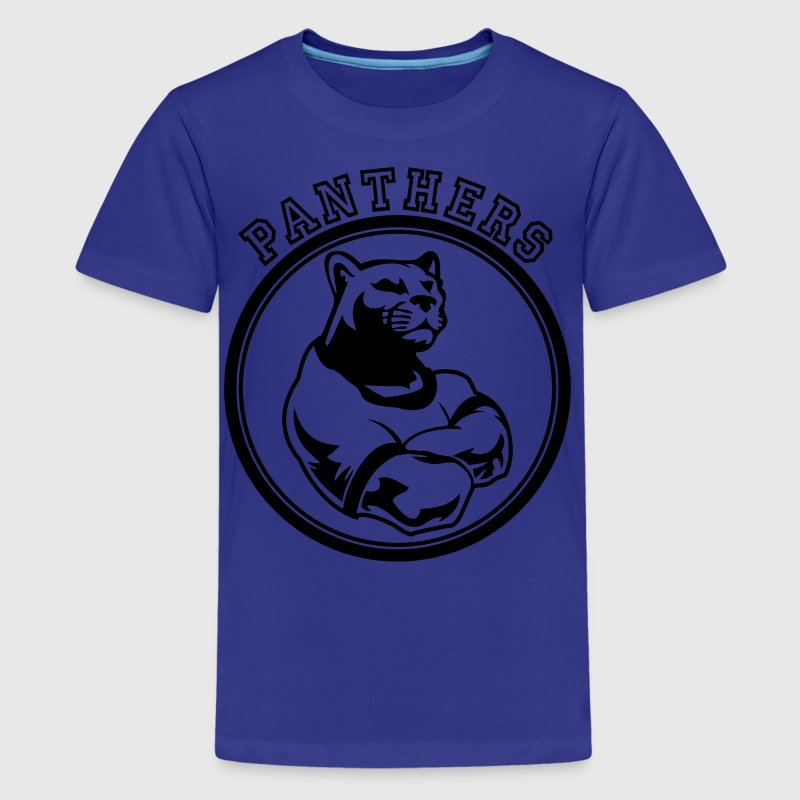 Custom Sports Panthers Mascot for Teams - Kids' Premium T-Shirt