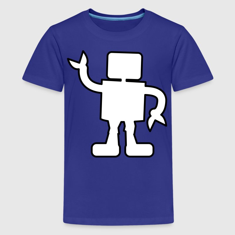 robot outline two color sabotage - Kids' Premium T-Shirt