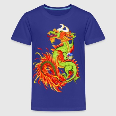 Flaming Dragon-Chinese Year Of The Dragon - Kids' Premium T-Shirt
