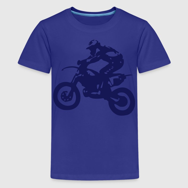 Motocross driver motorbike machine race motorcycle - Kids' Premium T-Shirt