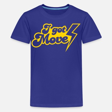 Lightning Strikes I GOT MOVES with lightning strike - Kids' Premium T-Shirt