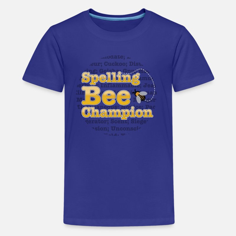 Spelling T-Shirts - Spelling Bee - Champion  - Kids' Premium T-Shirt royal blue