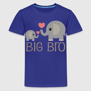 Big Boy Big Bro Elephants - Kids' Premium T-Shirt