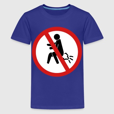 Pooping Asian Funny NO Farting Thai Sign - Kids' Premium T-Shirt