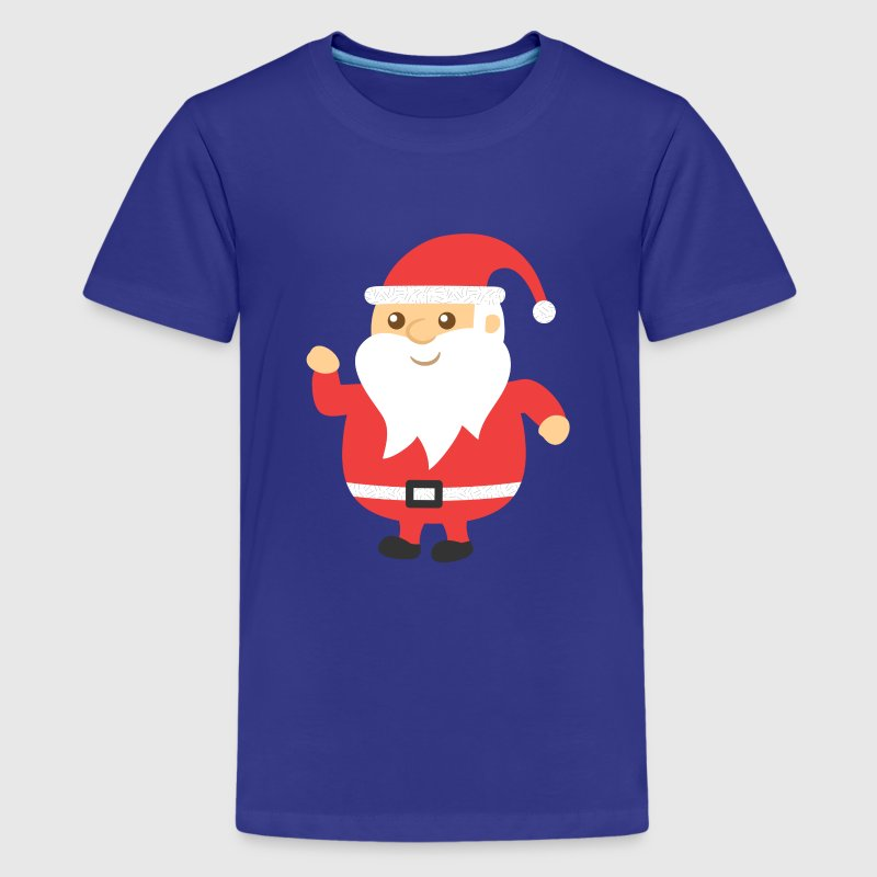 cute and jovial santa for Christmas - Kids' Premium T-Shirt