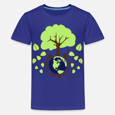 Environmental Message Earth Day Everyday - Kids' Premium T-Shirt