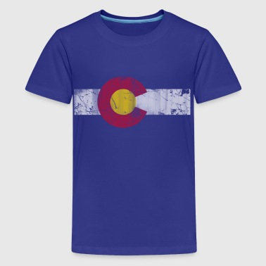 Colorado Flag Vintage Colorado Flag Vintage Fade - Kids' Premium T-Shirt