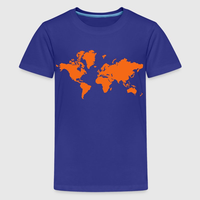 World Map - Kids' Premium T-Shirt