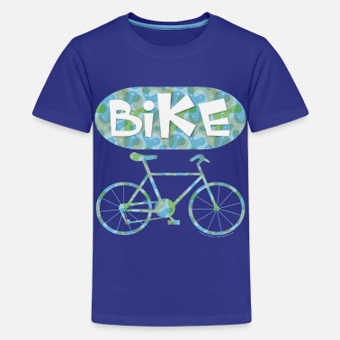 Text Pattern Patterned Bicycle Text Oval - Kids' Premium T-Shirt