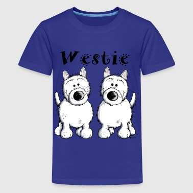 Cute West Highland Terrier  - Kids' Premium T-Shirt