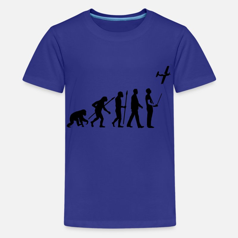 Automobile T-Shirts - evolution_modellflieger_b_1c - Kids' Premium T-Shirt royal blue