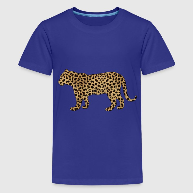 Toddler Tiger with Cheetah print T-shirt - Kids' Premium T-Shirt