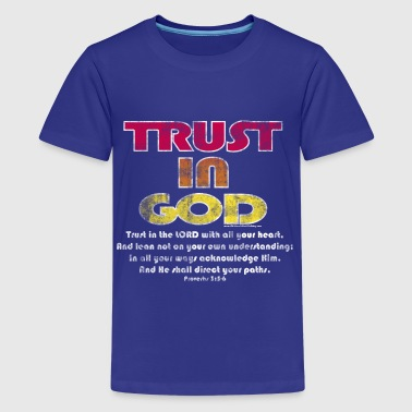 Christian trust in god bible verse - Kids' Premium T-Shirt