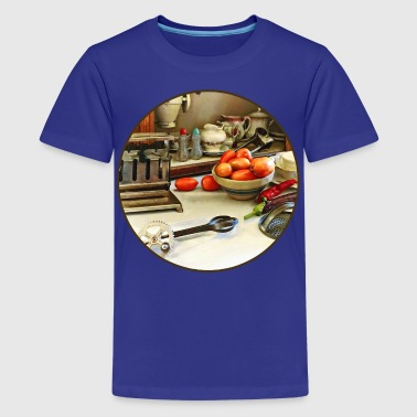 Eggbeater Bowl Of Tomatoes On Counter - Kids' Premium T-Shirt
