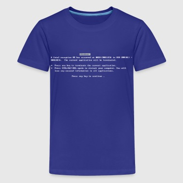 Classic Blue Screen of Death BSOD - Kids' Premium T-Shirt