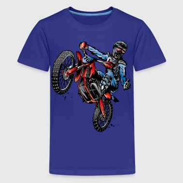 Motocross Dirt Bike Stunt Rider - Kids' Premium T-Shirt