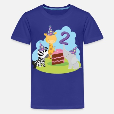 2 Year Old Birthday 2nd Birthday Zoo Animals - Kids' Premium T-Shirt