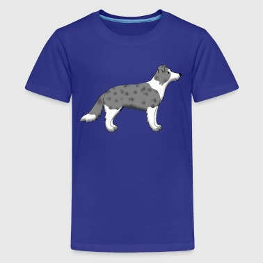 border collie blue merle - Kids' Premium T-Shirt