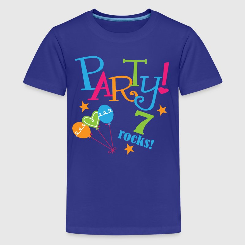 7th Birthday Party 7 Rocks - Kids' Premium T-Shirt