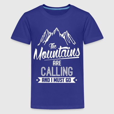 Skiing: the mountains are calling - Kids' Premium T-Shirt