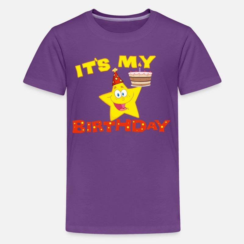 Its My Birthday Star Kids Premium T Shirt