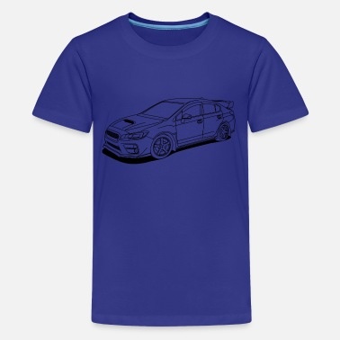 Subaru Sti Car Subaru wrx sti outlines - Kids' Premium T-Shirt