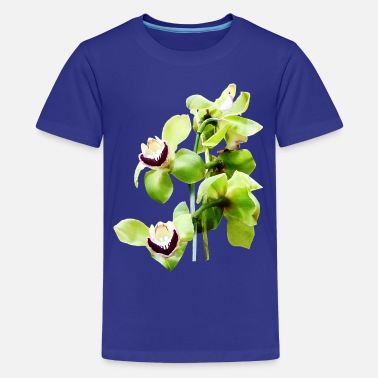 Interesting Green Cymbidium Orchids - Kids' Premium T-Shirt