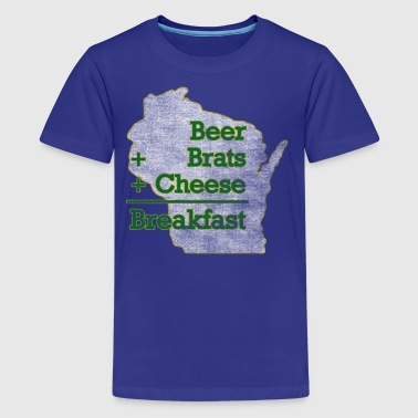 Beer Brats Cheese Breakfast Milwaukee Clothing - Kids' Premium T-Shirt