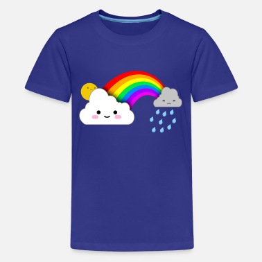 Rainbow Kids Super Cute Clouds and Rainbow - Kids' Premium T-Shirt