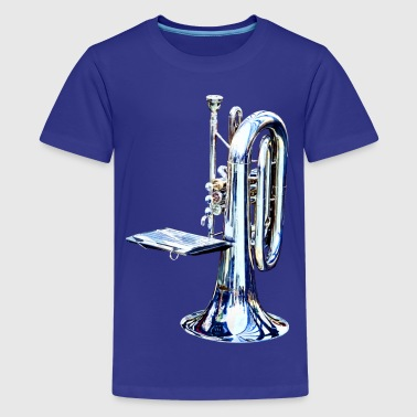 Baritone Horn Before Para - Kids' Premium T-Shirt