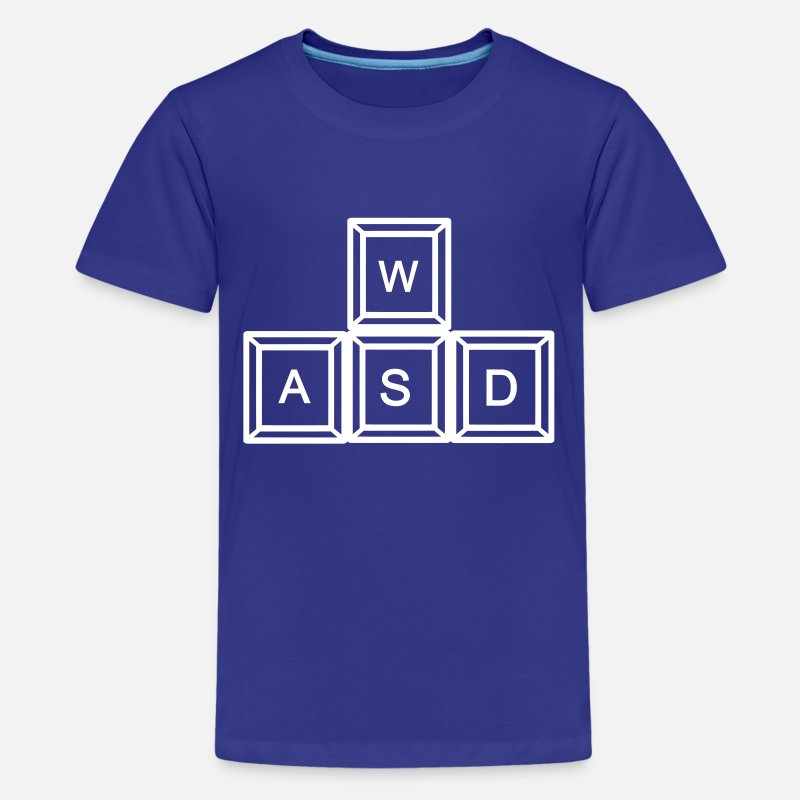 Computer T-Shirts - WASD Gaming - Kids' Premium T-Shirt royal blue