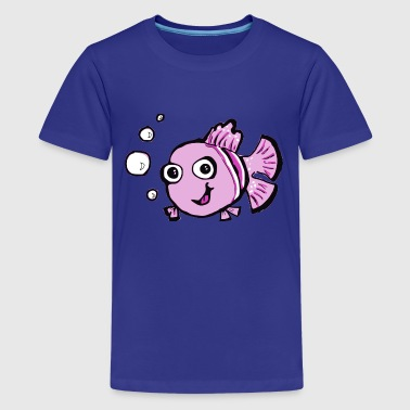 Pink Fish Cute Pink Cartoon Fish - Kids' Premium T-Shirt
