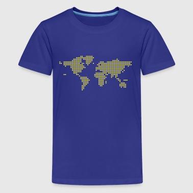 Shop world globe t shirts online spreadshirt world map kids39 premium t shirt gumiabroncs Images