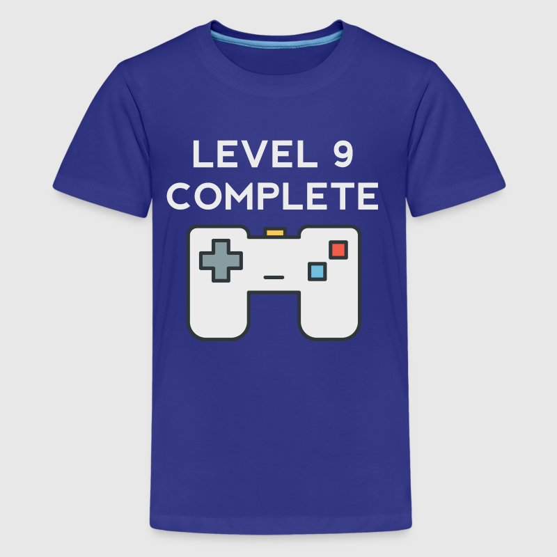 Level 9 Complete 9th Birthday - Kids' Premium T-Shirt