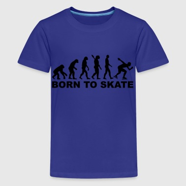 Speed Skate Evolution Speed skating - Kids' Premium T-Shirt