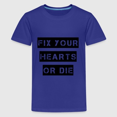 Agent Cooper FIX YOUR HEARTS OR DIE - Kids' Premium T-Shirt
