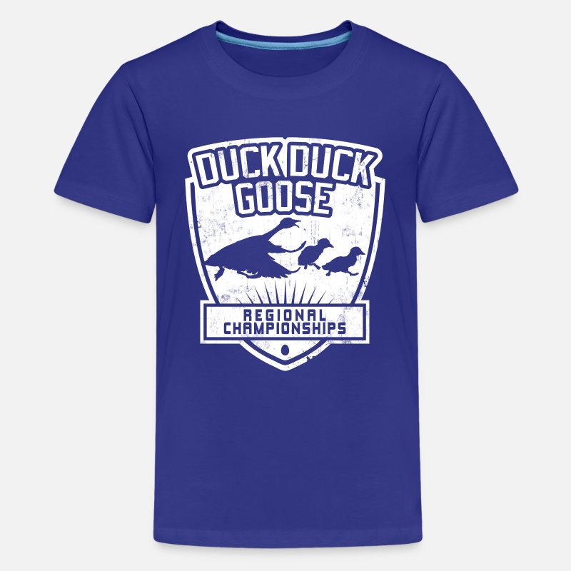 Fun T-Shirts - DUCK DUCK GOOSE REGIONAL CHAMPIONSHIPS - Kids' Premium T-Shirt royal blue