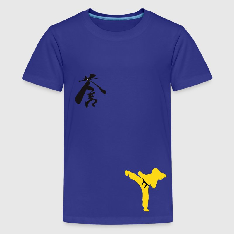 Meaning of Martial Arts: Courage, ladies  T shirt in purple - Kids' Premium T-Shirt