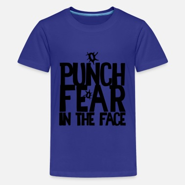 Hole Punch PUNCH FEAR IN THE FACE sport rivalry bullet holes - Kids' Premium T-Shirt