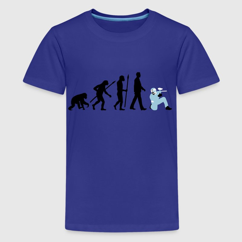 evolution_paintball_022015_b_3c - Kids' Premium T-Shirt