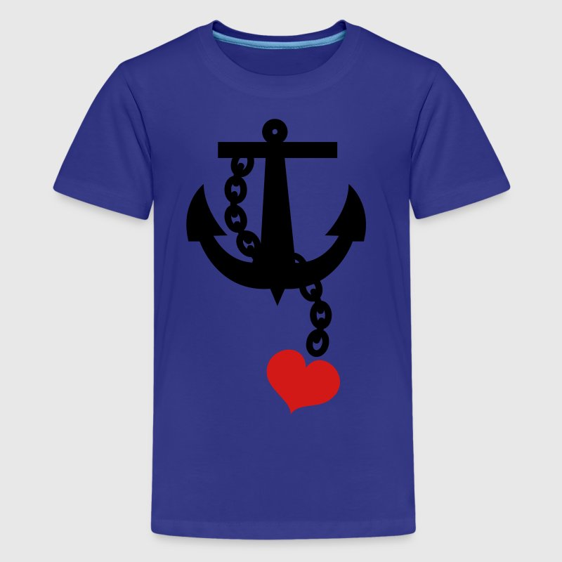 anchor with love heart - Kids' Premium T-Shirt