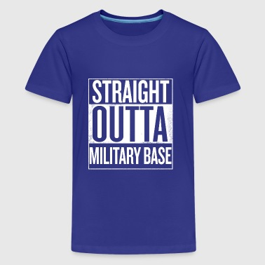 Straight outta military base-pubg - Kids' Premium T-Shirt
