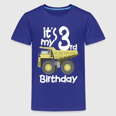 3rd Truck Birthday - Kids' Premium T-Shirt