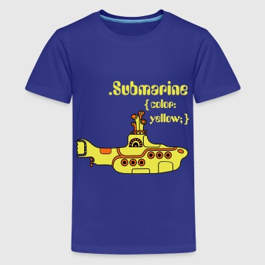 Yellow Submarine in CSS - Kids' Premium T-Shirt