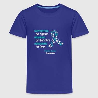 Supporting The Fighters - Ovarian Cancer Awareness - Kids' Premium T-Shirt